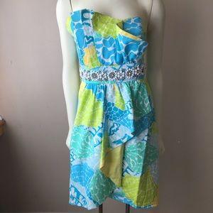 Lilly Pulitzer Rhinestone Crystal Strapless Dress
